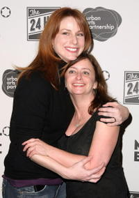 Diane Neal and Rachel Dratch at the after party for opening night of the 8th Annual 24 Hour Plays on Broadway presented by Montblanc.