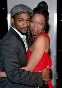 Anthony Mackie and Portia at the opening night of
