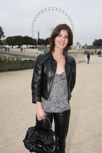 Irene Jacob at the Celine fashion show at Paris Fashion Week Spring/ Summer '08.