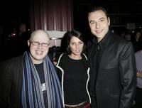 Matt Lucas, Sadie Frost and David Walliams at the after party following the
