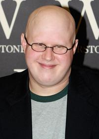 Matt Lucas at the signing of his new book