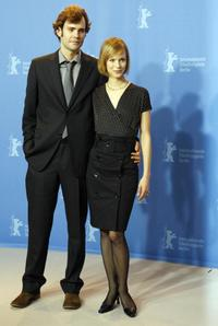 Rossif Sutherland and Laura Regan at the photocall of