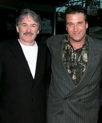 Bernie McDaid and Daniel Baldwin at the premiere of