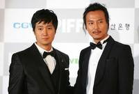 Park Hae-il and Lee Han at the opening ceremony of 13th Pusan International Film Festival.