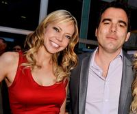 Riki Lindhome and Dennis Iliadis at the premiere of