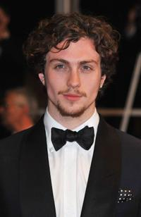 Aaron Johnson at the premiere of