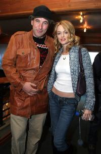 William Baldwin and Heather Graham at the Gibson Guitar and Entertainment Tonight celebrity hospitality lodge.