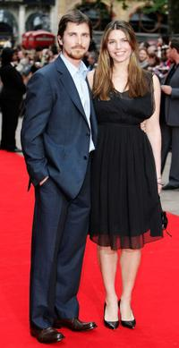 Christian Bale and his Guest at the European premiere of