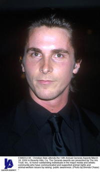Christian Bale at the 14th Annual Genesis Awards.