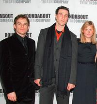 Michael C.Hall, Pablo Schreiber and Mamie Gummer at the after party of the Broadway opening of