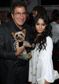 Director Kenny Ortega and Vanessa Hudgens at the premiere of