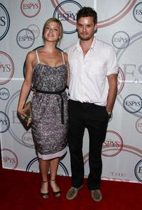 Adrianne Palicki and Austin Nichols at the 2008 ESPYs Giant Event.