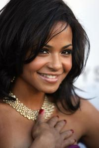 Christina Milian at the Geary's where Dame Elizabeth Taylor unveiled her House Of Taylor Jewelry Inc holiday collection.