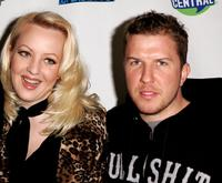 Wendi McClendon-Covey and Nick Swardson at the Comedy Central's
