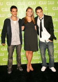Andrew St. John, Leah Pipes and Calvin Goldspink at the CW Network Upfront.