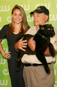 Leah Pipes and Guest at the CW Network Upfront.