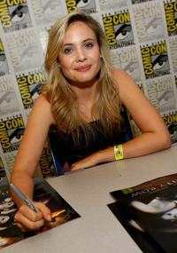 Leah Pipes at the signing of