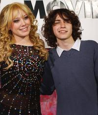 Hilary Duff and Adam Lamberg at the premiere of