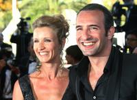 Alexandra Lamy and Jean Dujardin at the screening of