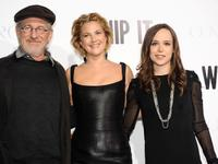 Steven Spielberg, Drew Barrymore and Ellen Page at the premiere of