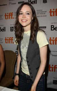 Ellen Page at the press conference of