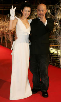 Yu Nan and director Qan-An Wang at the Golden Bear Award Ceremony during the 57th Berlin International Film Festival in Germany.