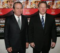 Tommy Lee Jones and Al Gore at the premiere of