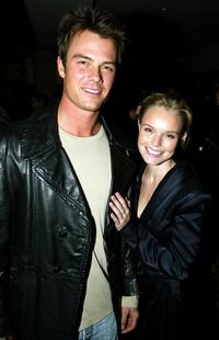 Josh Duhamel and Kate Bosworth at the cocktail party of