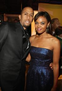 Affion Crockett and Sharon Leal at the after party of the premiere of