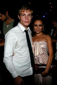 Jonathan B. Wright and Alexis Dziena at the after party of the premiere of