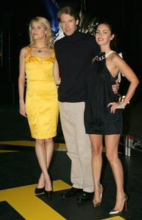 Rachael Taylor, Michael Bay and Megan Fox at the press conference of
