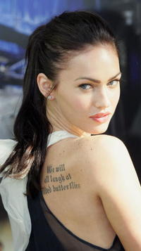 Actress Megan Fox at a press conference in Sydney for