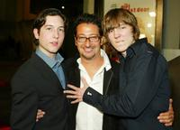 Paul Dano, Chris Marquette and Luke Greenfieldarrive at the premiere
