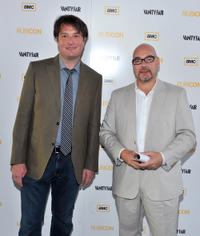 Christopher Evan Welch and Joel Stillerman at the New York premiere of