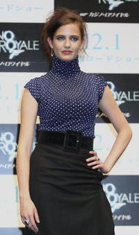 """Eva Green at a press conference for """"Casino Royale"""" in Tokyo, Japan."""