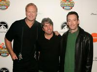 Bill Fagerbakke, Stephen Hillenburg and Tom Kenny at the New York premiere of