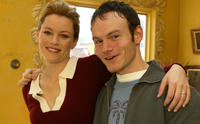 Elizabeth Banks and Chris Terrio at the press conference of