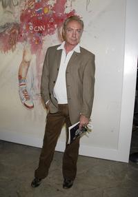 Udo Kier at the artist Antony Micallef's debut Los Angeles show