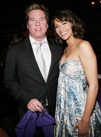 Val Kilmer and Paula Patton at the after party World Premiere of '