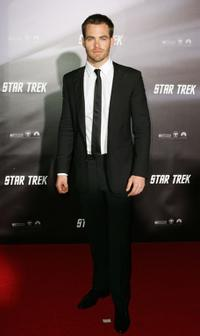 Chris Pine at the world premiere of