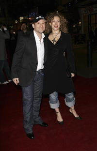 Alex Kingston and Christian Slater at the world premier of