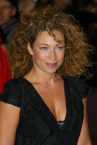 Alex Kingston at the National Movie Awards held at the Royal Festival Hall.