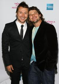 Leigh Whannell and Nathan Phillips at the premiere of