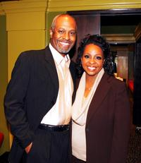 James Pickens and Gladys Knight at the Gibson Amphitheatre.
