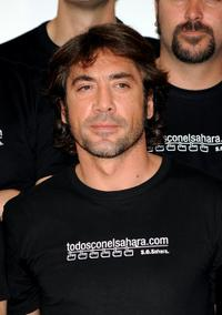 Javier Bardem at the photocall to supports Saharawi Arab Republic.