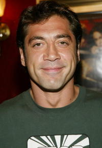"Javier Bardem at the premiere of ""King Arthur"" in New York City."
