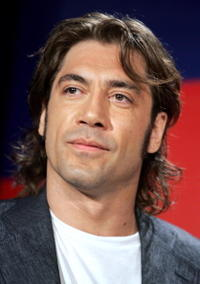 Javier Bardem at a press conference in Cannes, France.