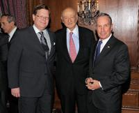 Don Lents, Ed Koch and Michael R. Blomberg at the celebration of Koch's 85th Birthday and Anniversary.