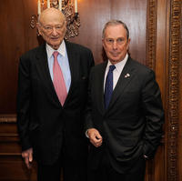 Ed Koch and New York City Mayor Michael R. Bloomberg at the celebration of Koch's 85th Birthday and 20th Anniversary.