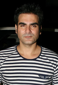 Arbaaz Khan at the opening party of HDIL Couture Week 2010 in Mumbai.